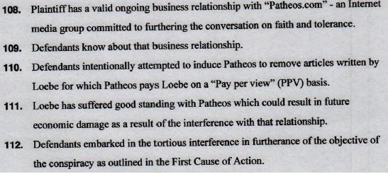 patheos loebe suit claims